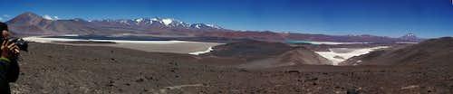 Pissis range, Laguna Amarga, Laguna Verde, Cerro Tres Quebradas (or Los Patos)