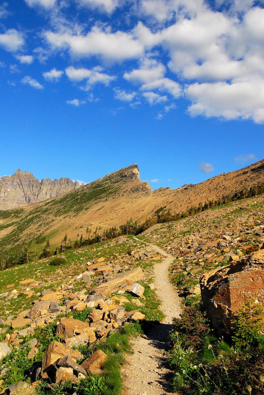approaching Piegan Pass