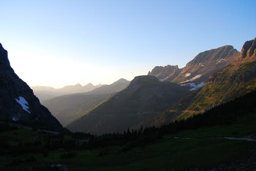 looking west from Logan Pass