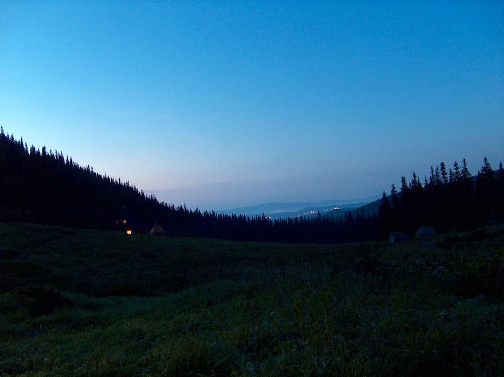Dolina Gąsienicowa (Polish Tatras) , by night.