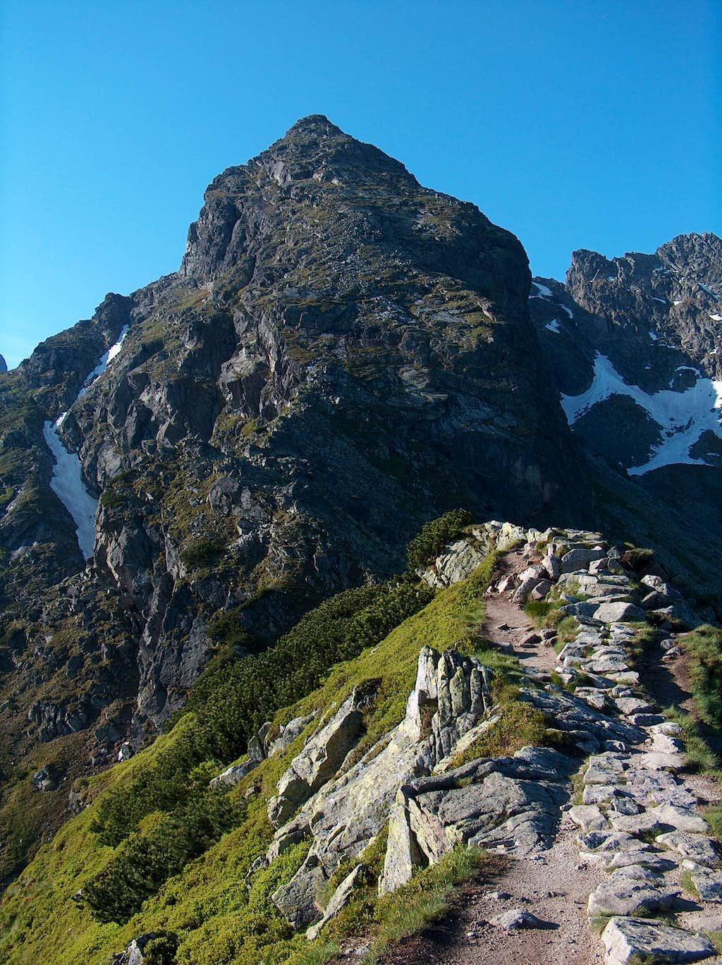 On Karb, looking to the Peak Kościelec.