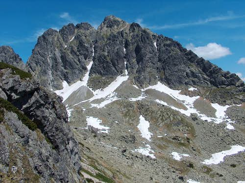Looking to Kozi Wierch, walking in the direction of the pass Zawrat from Świnica