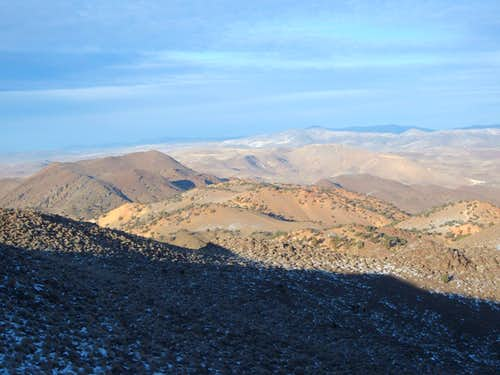 View of the Colored Hills from Peak 6075