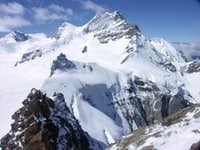 Jungfrau&Sfinx seen from SW ridge