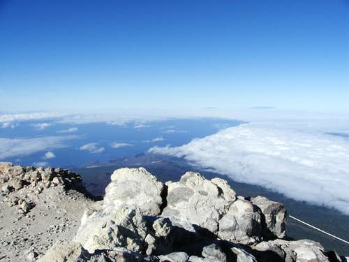 View fromSummit of Teide