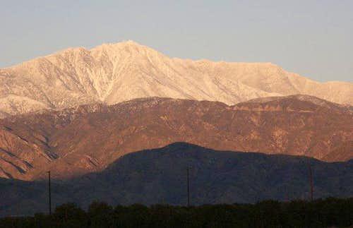Snow on Keller Peak