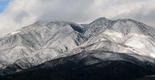 Snow on San Sevaine Ridge
