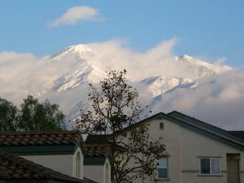 Snow on Cucamonga Peak