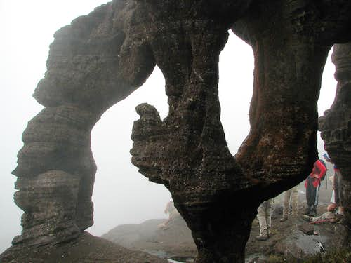 Crazy rock formations on Roraima
