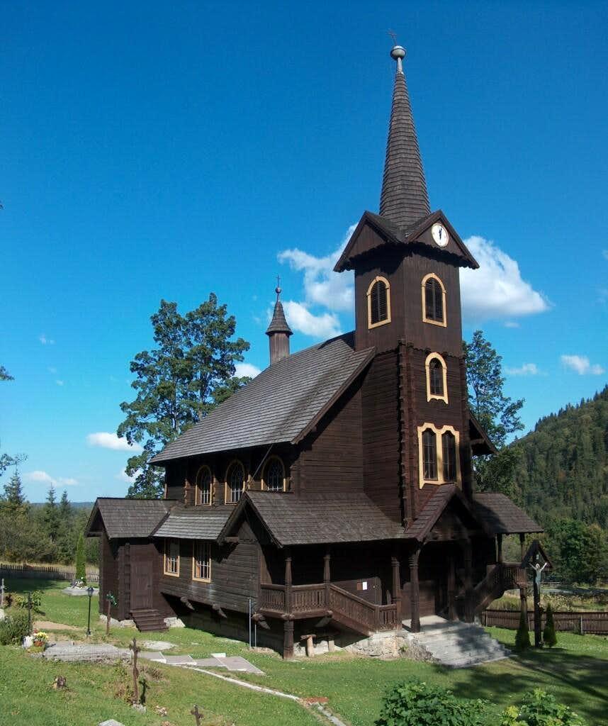 The wooden chapel in Javorina