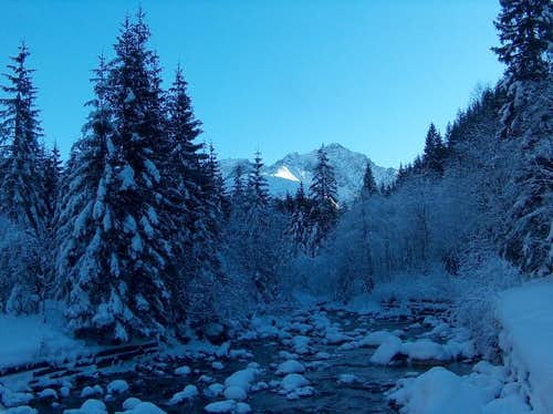 The valley Javorová Dolina in winter