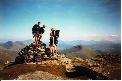 Cairn on top of Beinn Dorain Scotland