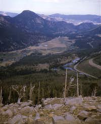 Looking east from Trail Ridge Rd