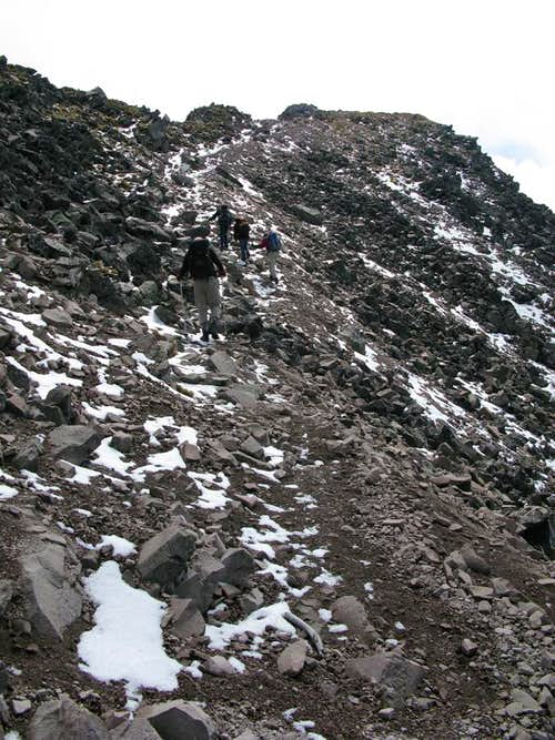 Towards Malinche summit