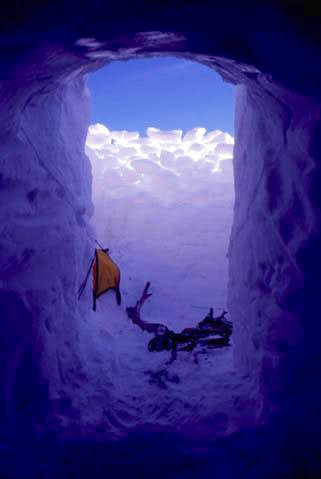 A view from the snowcave just...