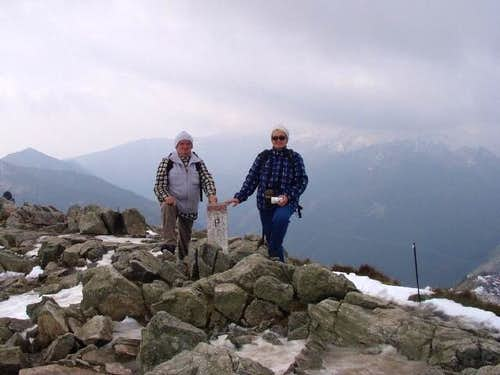 On top of Kasprowy Wierch (1987 m).