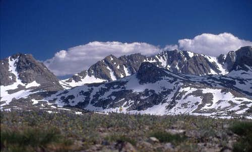 Muriel Peak (L) and Mount...