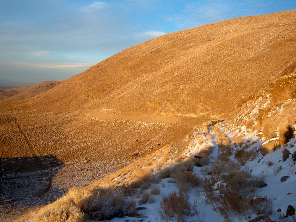 The summit massif