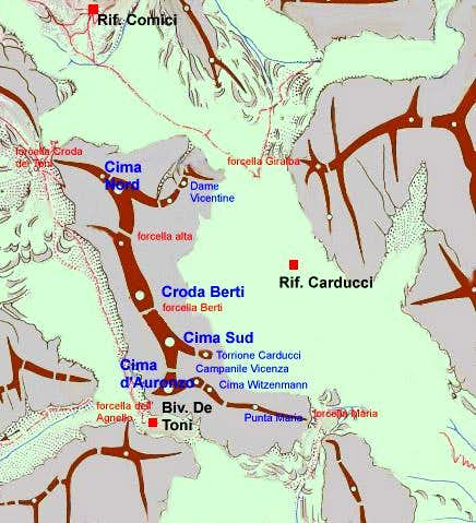 schematical map of the Croda...
