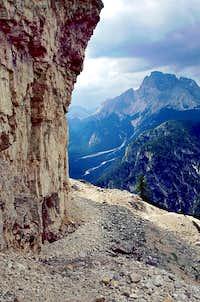 View from Pionierweg, Monte Piana