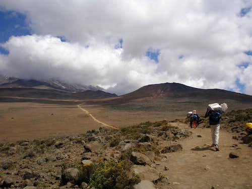 The Saddle from Mawenzi Ridge