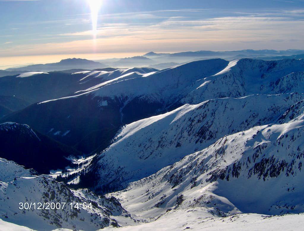 Summit view from Negoiu 2535m