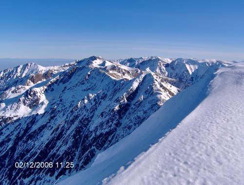 Summit view from Negoiu 2535m