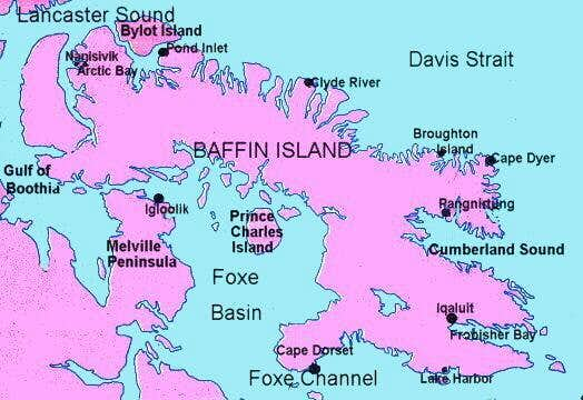 Baffin Island Map Map of Baffin Island. : Photos, Diagrams & Topos : SummitPost