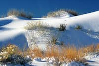 Snow-Covered Dunes