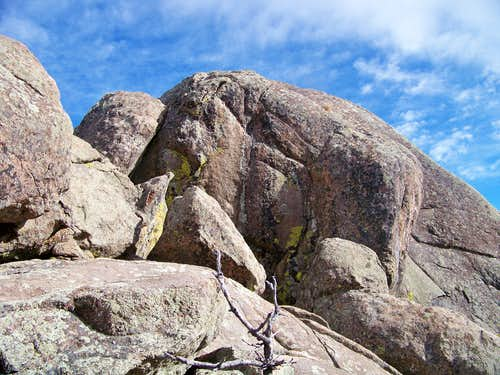 Closeup of Plymouth Mountain Summit Boulders