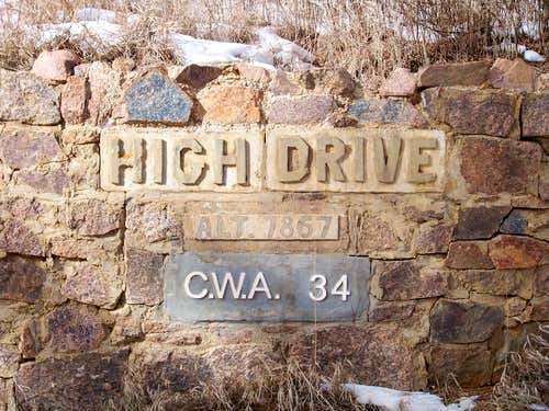 Historic High Drive Sign