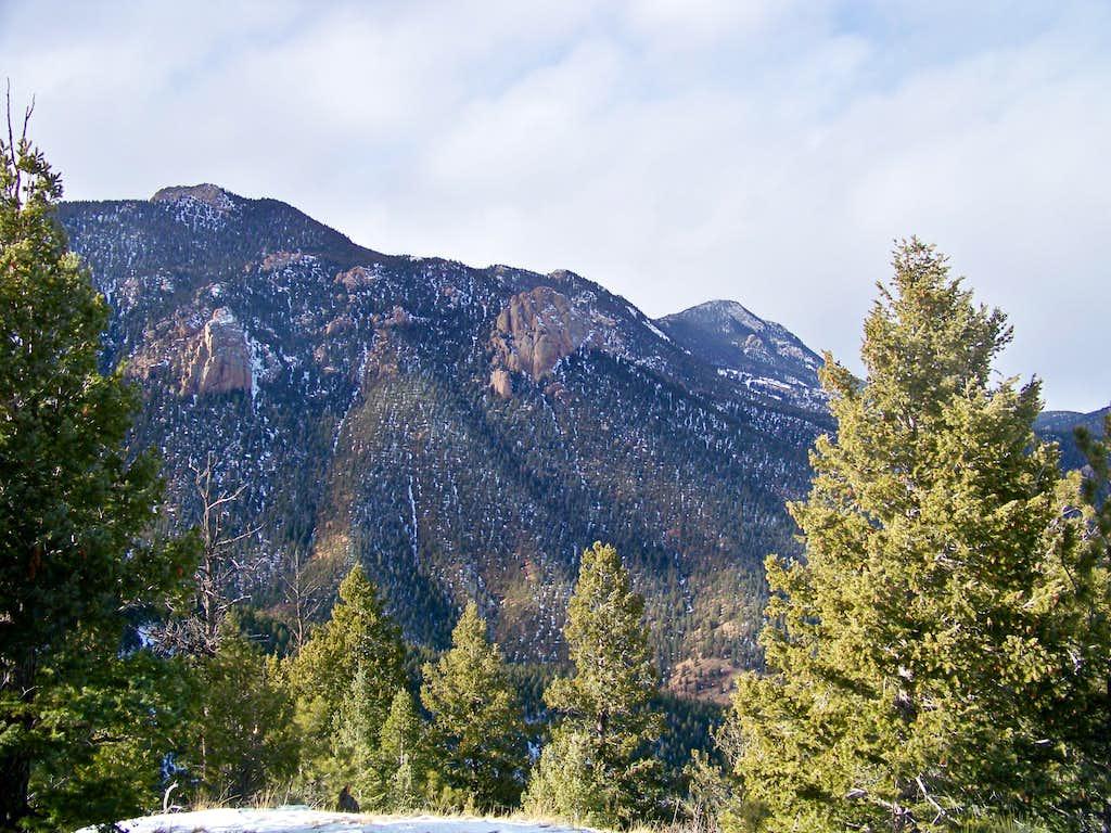 Looking west-northwest from Mays Peak