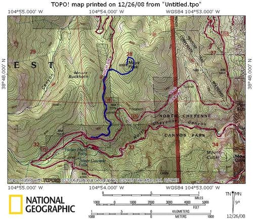 Mays Peak Trail Map