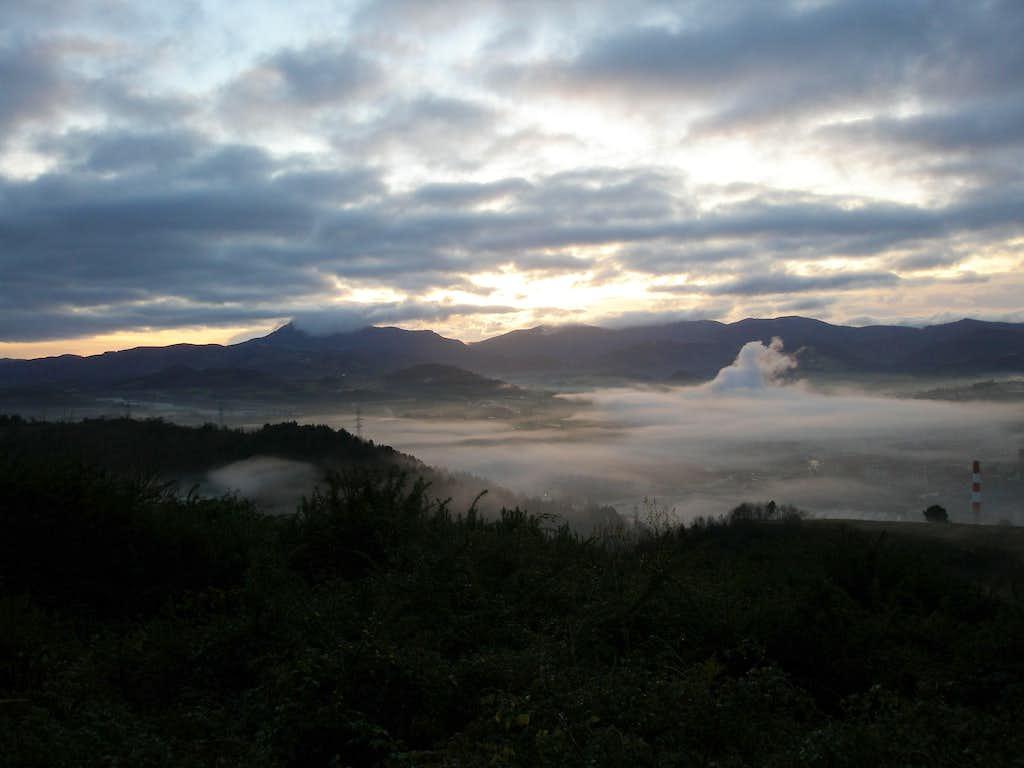 Sunrise from the west ridge of Jaizkibel