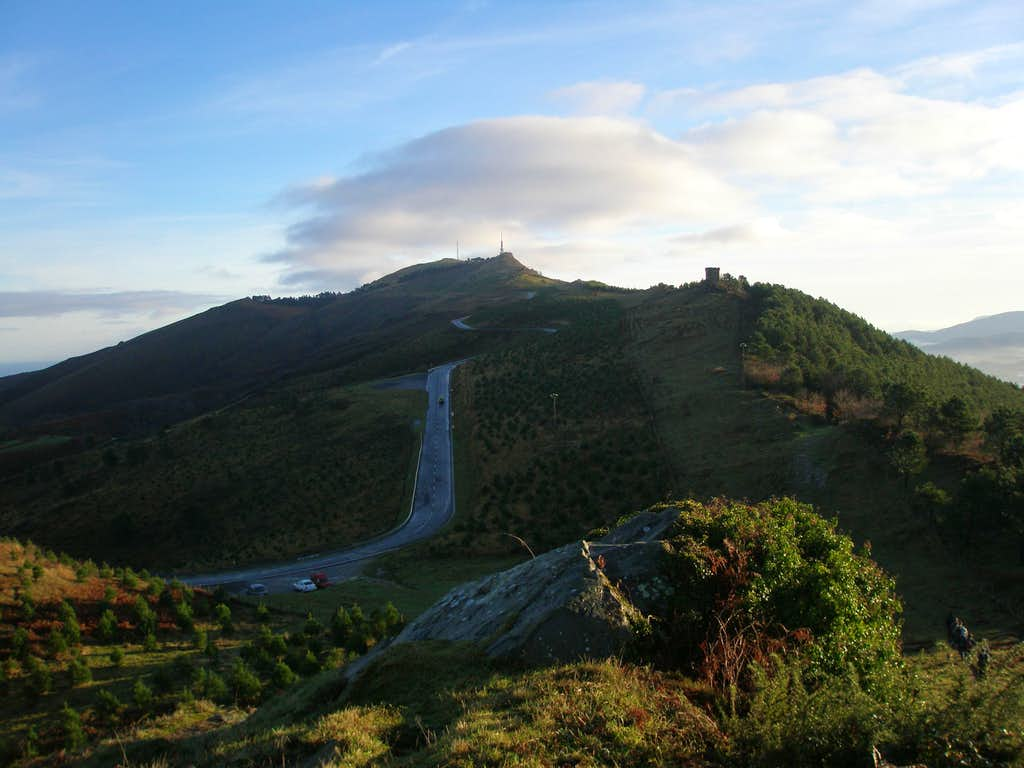 West ridge to the summit
