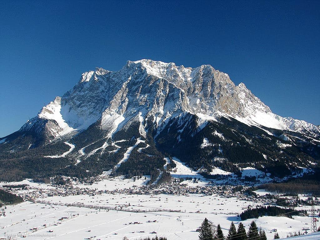 Towering above Ehrwald