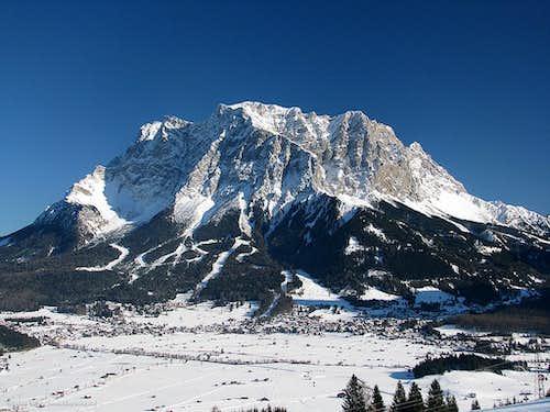 Towering above Ehrwald