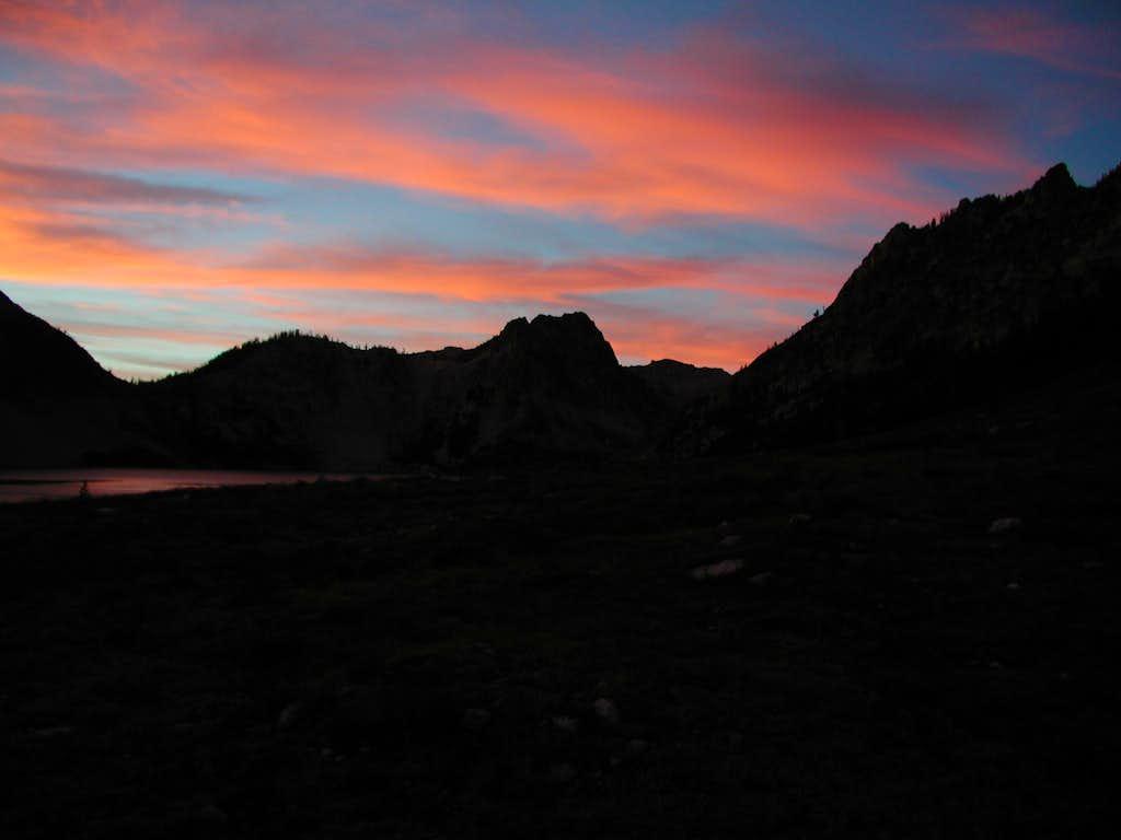 Sawtooth Lake Sunset