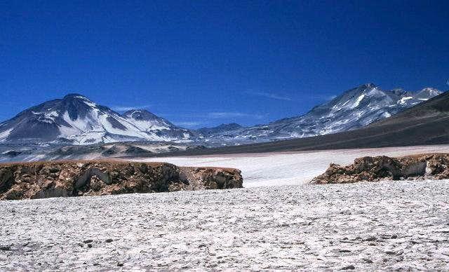 Cerro El Muerto (left) and...