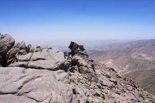 Alvand from the neighbouring peak