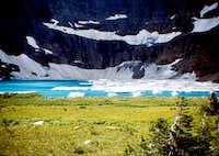 APPROCHING ICEBERG LAKE-GLACIER NATIONAL PARK-MT (1968)