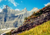 THE PINNICALE WALL NEAR ICEBERG LAKE-GLACIER NATIONAL PARK-MT (1968)