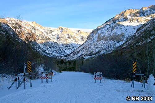 Lamoille Canyon access road winter closure