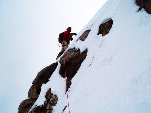 Pico de Orizaba - traverse of crater rim