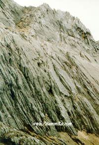 Close up of the North Face of...