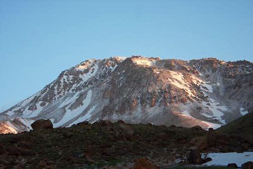 Early morning light on Sabalan
