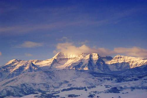 East side of Mt. Timpanogos,...