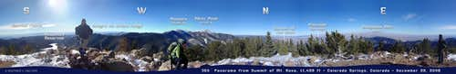 360 Panorama from summit of Mt. Rosa