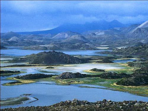 Lagunas de Cotacotani on the...