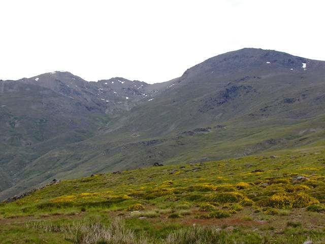 Loma Pelá, Ptal de la Caldera and Mulhacén
